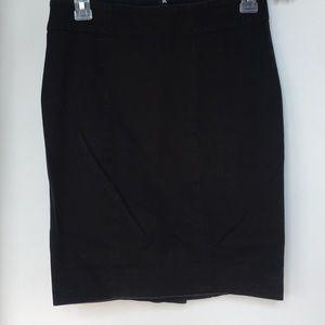 GAP Black Stretch denim-ish Pencil Skirt